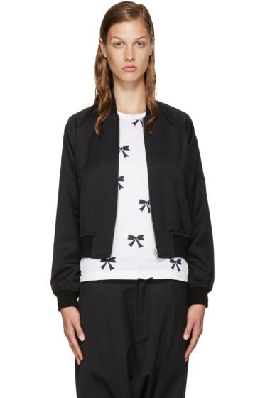 Comme des Garçons Girl - Black Wool Bomber Jacket