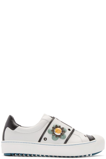 Fendi - White Flowerland Sneakers