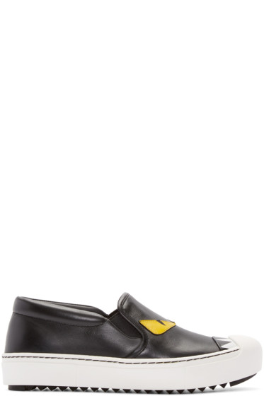 Fendi - Black Bug Eyes Slip-On Sneakers