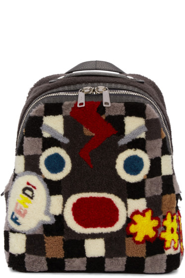 Fendi - Multicolor Shearling Backpack