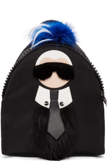 Fendi - Black Karlito Backpack