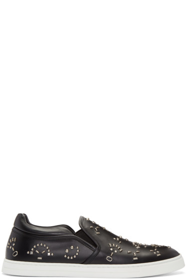 Fendi - Black Bag Bugs Slip-On Sneakers