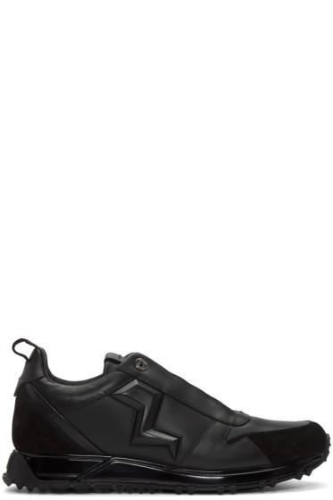 Fendi - Black Leather Bolt Sneakers
