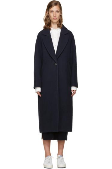 Enfold - Navy Wool Oversized Coat