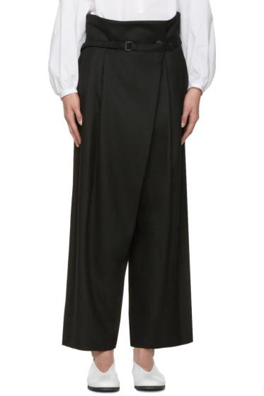 Enfold - Black Wide-Leg Trousers