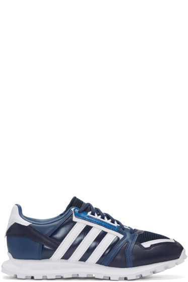 adidas x White Mountaineering - Navy Leather Racing 1 Sneakers
