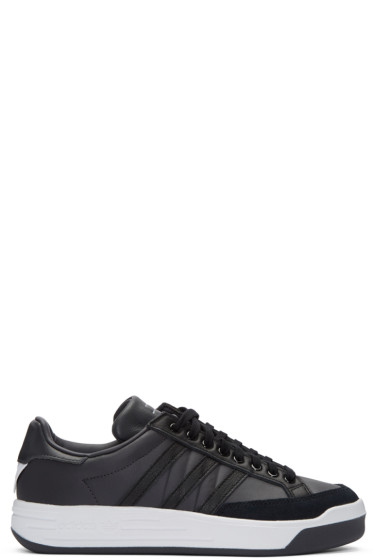 adidas x White Mountaineering - Black Leather Court Sneakers