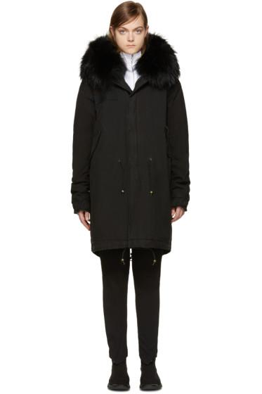 Mr & Mrs Italy - Black Fur Collar Parka