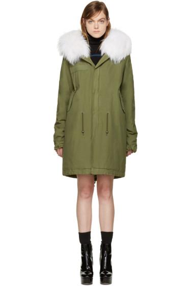 Mr & Mrs Italy - Green Fur Collar Parka