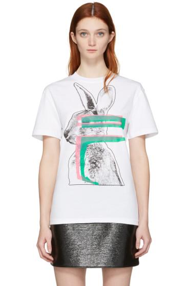 McQ Alexander Mcqueen - White Glitch Bunny Classic T-Shirt