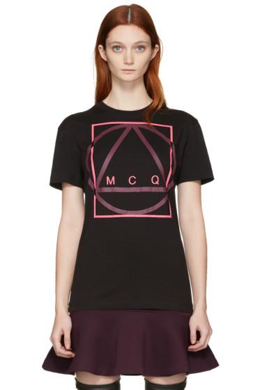McQ Alexander Mcqueen - Black Glyph Icon Classic T-Shirt