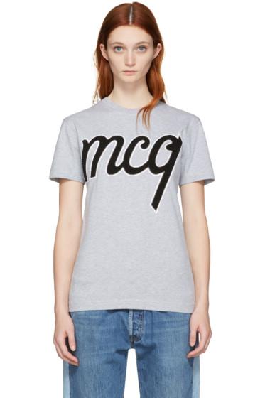 McQ Alexander Mcqueen - Grey Logo Classic T-Shirt