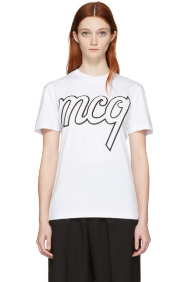 McQ Alexander Mcqueen - White Classic Logo T-Shirt