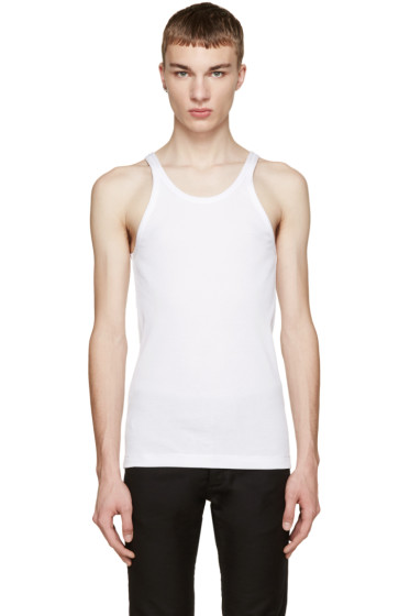 Dolce & Gabbana - White Ribbed Tank Top