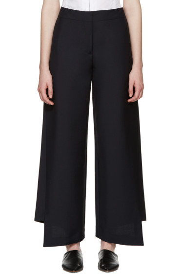 Acne Studios - Navy Wool Haddie Trousers