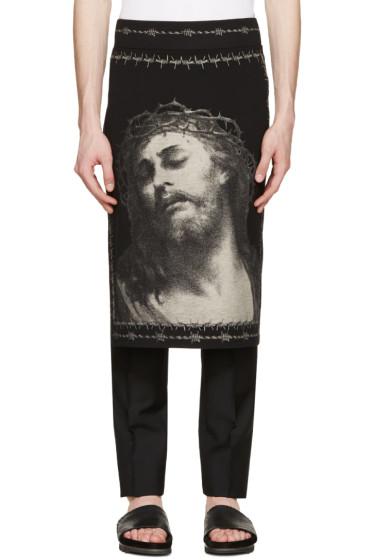 Givenchy - Black Jersey Jesus Skirt