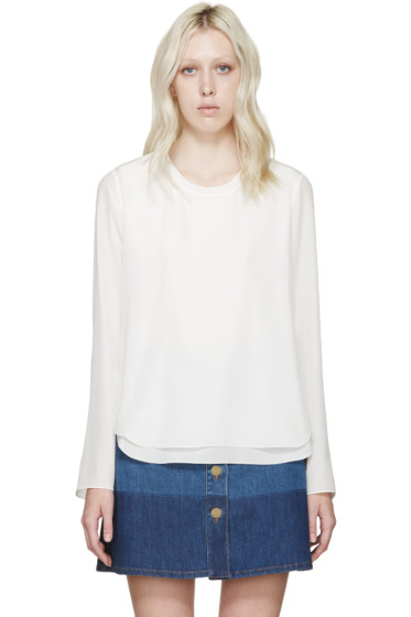 Chloé - White Silk Layered Blouse