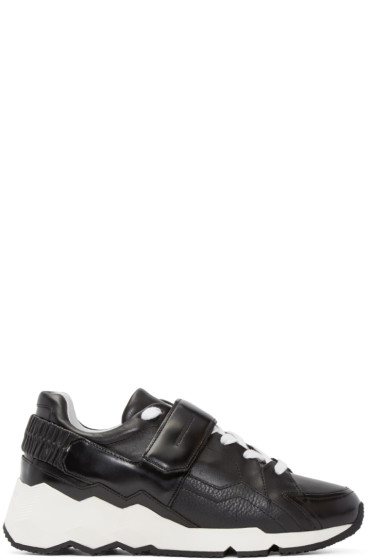 Pierre Hardy - Black & White Leather Comet Sneakers