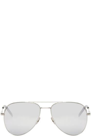 Saint Laurent - Silver Classic 11 Aviator Sunglasses