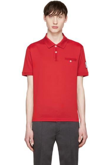 Moncler Gamme Bleu - Red Cotton Polo