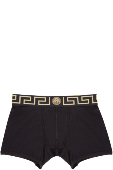 Versace Underwear - Black & Gold Medusa Boxer Briefs