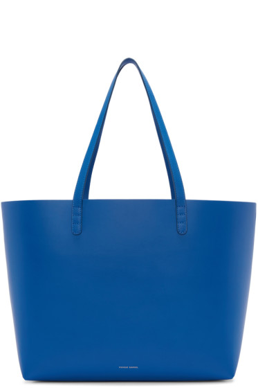 Mansur Gavriel - Blue Leather Large Tote