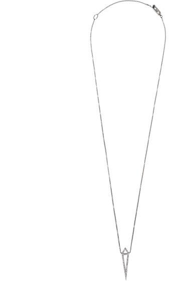 Eva Fehren - Blackened Gold Diamond Dagger Pendant