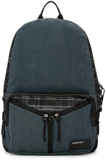 Diesel - Blue Denim De-Yanki Backpack