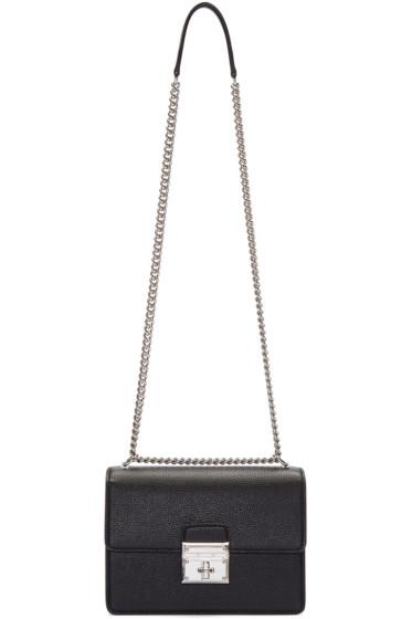 Dolce & Gabbana - Black Small Rosalia Shoulder Bag