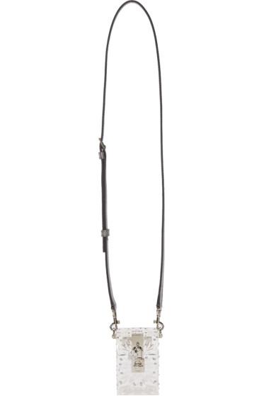 Dolce & Gabbana - Clear Plexiglass Bejewelled Shoulder Bag