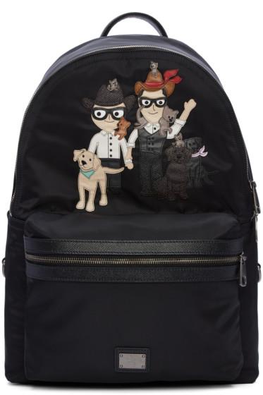 Dolce & Gabbana - Black Designers & Pets Backpack