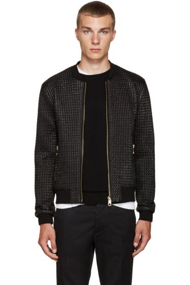 Dolce & Gabbana - Black Nylon Quilted Bomber Jacket