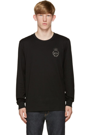 Dolce & Gabbana - Black Crown & Bee T-Shirt