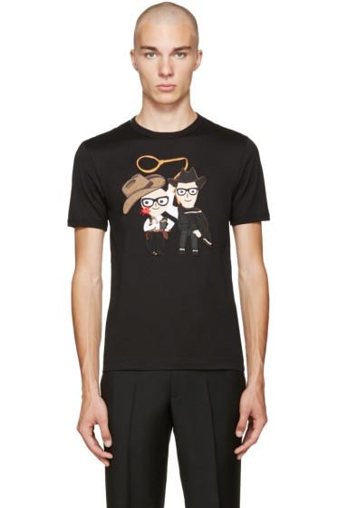 Dolce & Gabbana - Black Cowboys T-Shirt