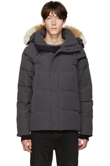 Canada Goose - Grey Down & Fur Jacket