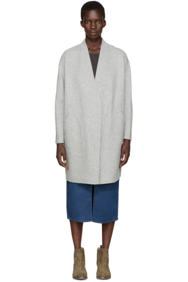 Rag & Bone - Grey Reversible Mica Coat