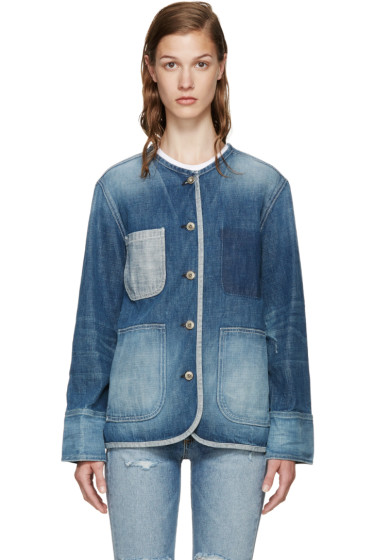 Rag & Bone - Blue Denim Santa Cruz Jacket