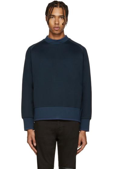 Diesel Black Gold - Blue Extended Crewneck Sweatshirt