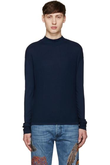 Diesel Black Gold - Navy Mock Neck T-Shirt