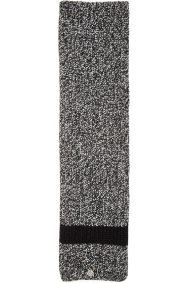 Moncler - Black Knit Stripe Scarf