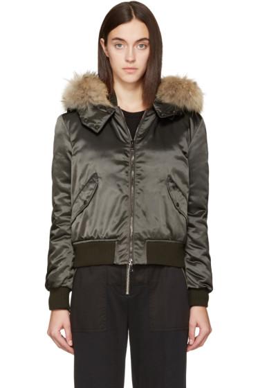 Moncler - Green Down Eulimene Coat