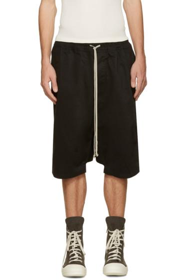 Rick Owens Drkshdw - Black Twill Pods Shorts