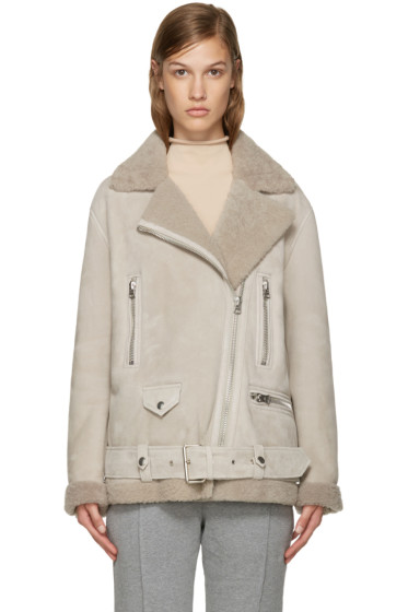Acne Studios - Beige Shearling More Jacket