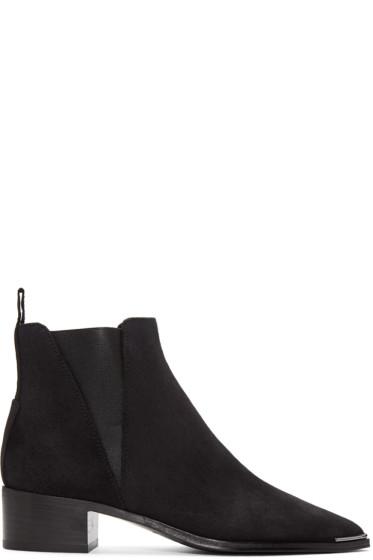 Acne Studios - Black Suede Jensen Ankle Boots