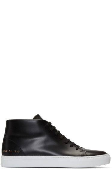 Common Projects - Black New Court Mid-Top Sneakers
