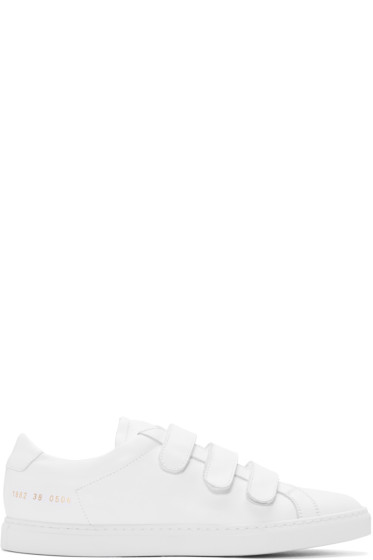 Common Projects - White Achilles Three Strap Sneakers