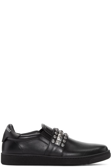 Dsquared2 - Black Studded Slip-On Sneakers