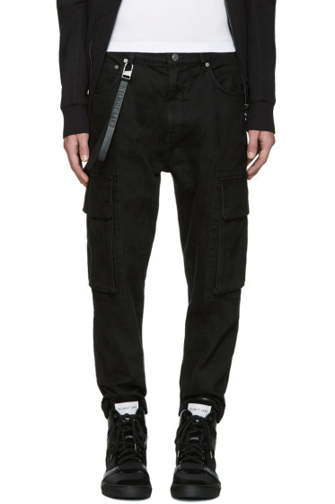 Helmut Lang - Black Twill Cargo Pants