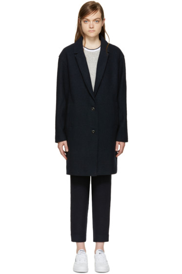 YMC - Navy Wool Coat