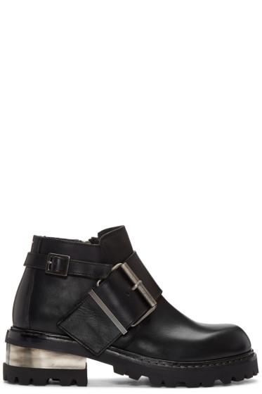Maison Margiela - Black Big Buckle Boots